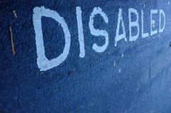 Niepełnosprawny drogowy ocechowanie Obraz Royalty Free