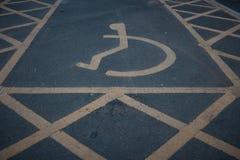 Niepełnosprawny niepełnosprawny ikona znak Obraz Stock