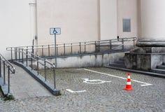 niepełnosprawny miejsce do parkowania Zdjęcia Stock