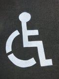 Niepełnosprawny miejsce do parkowania logo Zdjęcie Royalty Free