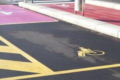 niepełnosprawny parking Zdjęcie Royalty Free