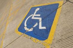 niepełnosprawny parking Zdjęcie Stock