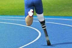 Niepełnosprawny szybkobiegacz Zdjęcia Royalty Free