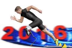 Niepełnosprawny szybkobiegacz 2016 Zdjęcie Stock