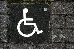 niepełnosprawny znak Obraz Stock