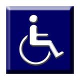 niepełnosprawna guzik ikona Zdjęcie Royalty Free