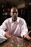 Niepewny afrykański facet Obraz Stock