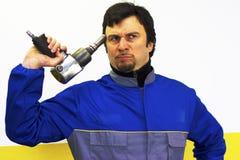 niepewny błękitny kołnierz Fotografia Stock