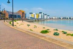 Niepodległy schronienie w Eastbourne, Wschodni Sussex, UK obraz royalty free