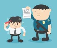 Niepokój męscy biznesmeni które one opodatkowywają backwards ilustracja wektor