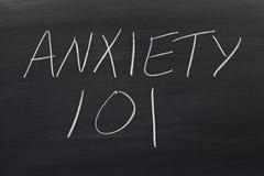 Niepokój 101 Na Blackboard Fotografia Stock