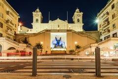 Niepokalanego poczęcia kościół, Trzy miasta, Malta Obrazy Stock
