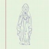 Niepokalany poczęcie maryja dziewica ilustracji