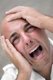 niepokojący łysy mężczyzna Zdjęcia Stock