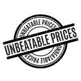 Niepokonana ceny pieczątka Fotografia Stock