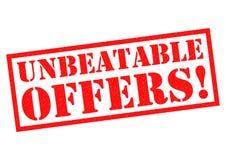 NIEPOKONANE oferty! Zdjęcie Royalty Free