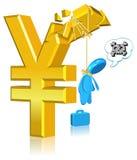 niepomyślna biznesowa waluta Obrazy Stock