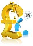 niepomyślna biznesowa waluta Obraz Royalty Free