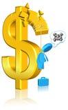 niepomyślna biznesowa waluta Zdjęcia Stock