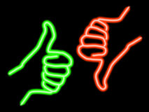 nieporozumienie neon Fotografia Royalty Free