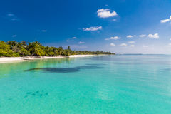 Nieporuszona tropikalna plaża, Maldives plaża Fotografia Royalty Free