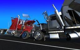 Niepowodzenie dwa ciężarówki ilustracja wektor