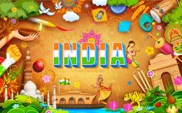 Nieprawdopodobny India tło royalty ilustracja