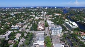 Nieprawdopodobny 4k trutnia powietrzny strzał dużego nowożytnego miastowego Floryda miasta architektury nowożytny śródmieście głę zbiory wideo