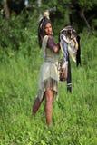 Nieprzyjazny indianin Fotografia Royalty Free