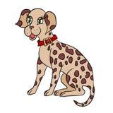 Nierówna psia ilustracja Obraz Royalty Free