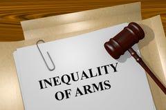 Nierówność ręki pojęcie obraz royalty free
