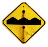 nierówny drogowy znak obraz royalty free