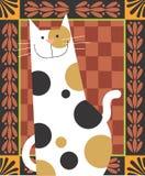 Nierówny kot Zdjęcia Royalty Free