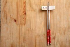Nierdzewny chopstick fotografia stock