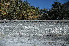 Nieregularna cegły ściana Obrazy Royalty Free