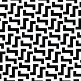Nieregularne labirynt linie Wektorowy czarny i biały wzór ilustracja wektor