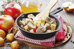 Nierenrundvlees in cider Royalty-vrije Stock Afbeeldingen