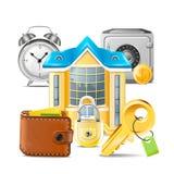 Nieruchomość biznesu ikony Zdjęcia Stock