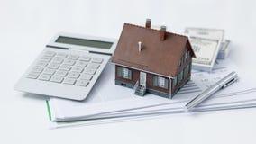 Nieruchomość i kredyt mieszkaniowy fotografia stock