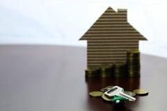 Nieruchomość kluczy papieru dom Zdjęcie Stock