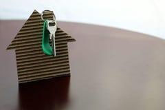 Nieruchomość kluczy papieru dom Obraz Stock