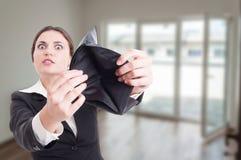 Nieruchomość konsultanta seansu pusty portfel Obraz Stock