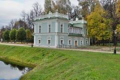Nieruchomość Kuskovo Dwór na brzeg staw Obrazy Royalty Free