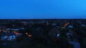 Nieruchomość przy nocą - od nieba obraz stock
