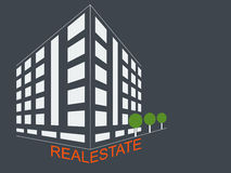Nieruchomość rozwoju architektury pojęcia symbol Fotografia Royalty Free