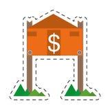 nieruchomość rynku budownictwa mieszkaniowego wartości obniżki linia Obrazy Royalty Free