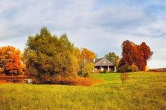 nieruchomość Trigorskoye, Pskov region, Rosja - jesień krajobraz Zdjęcie Royalty Free