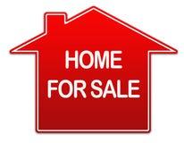 nieruchomości domowy istny sprzedaży znak ilustracja wektor