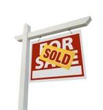 nieruchomości domowy odosobniony istny sprzedaży znak sprzedający Fotografia Royalty Free