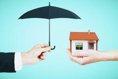Nieruchomości i assuarance pojęcie zdjęcie stock